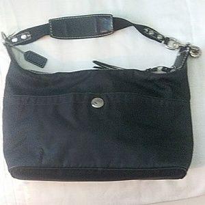 Coach Black Fabric & Leather Bag